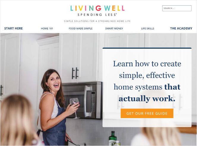 spending less living well - best blog examples