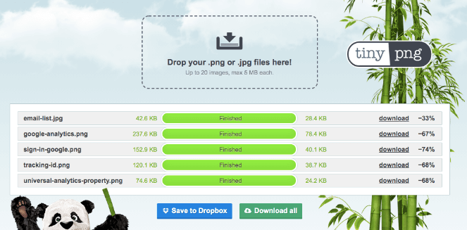 Compressing images with tinypng helps with your image SEO