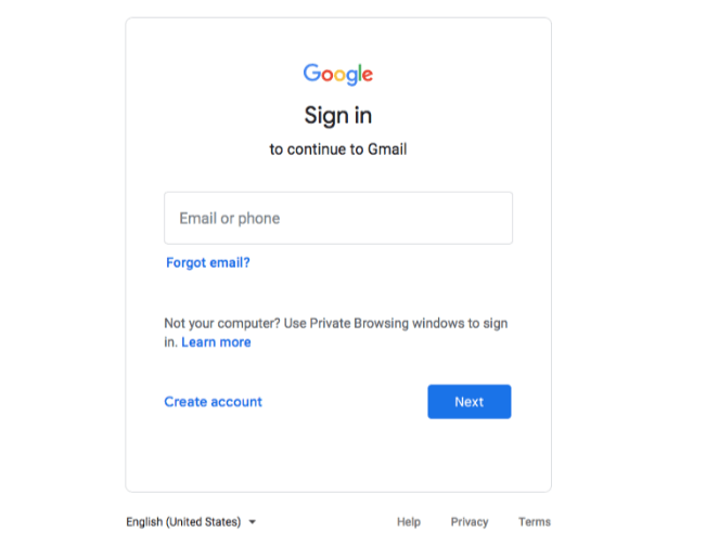 Sign into your google analytics account