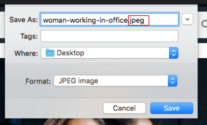 What an image file format can look like. You need the right image file format for good image SEO
