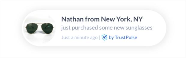 trustpulse notification