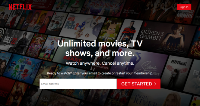 netflix-signup-landing-page-example