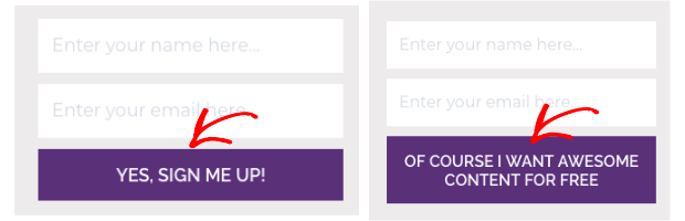 a/b testing different landing page elements like cta button text