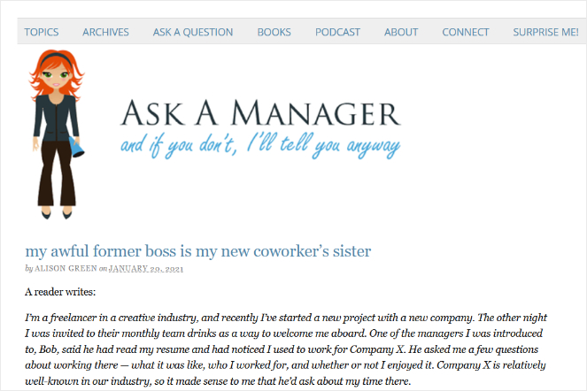blog ask a manager answers reader questions in blog posts