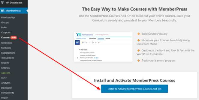 install-courses-add-on