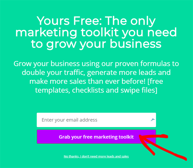 create a call to action for landing page optimization