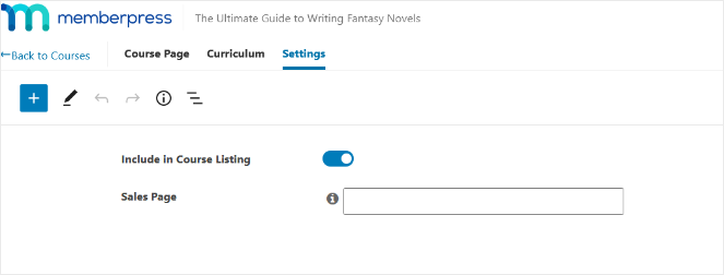 course-listing-settings