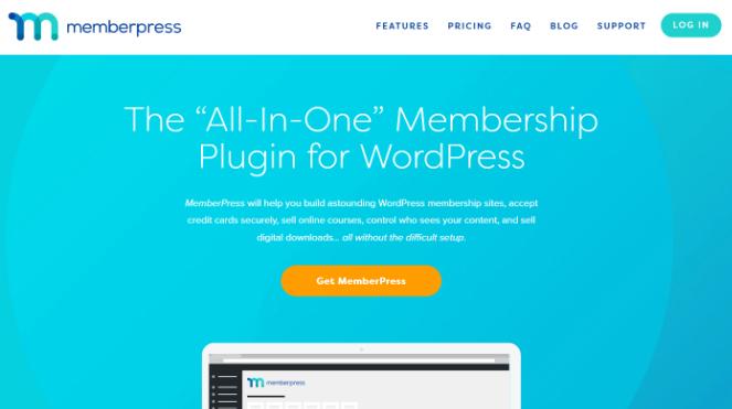 use memberpress plugin to create online courses
