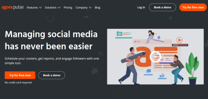 agorapulse social media tool for scheduling content