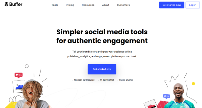 buffer social media tool for publishing and engagement