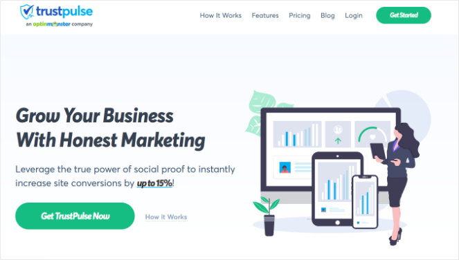 trustpulse website the best social proof tool