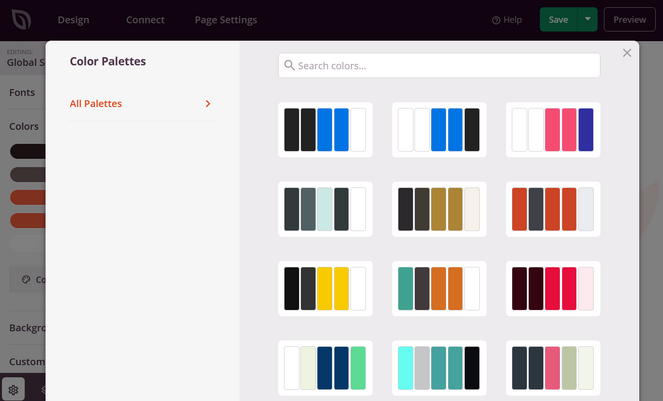 seedprod color palettes for design