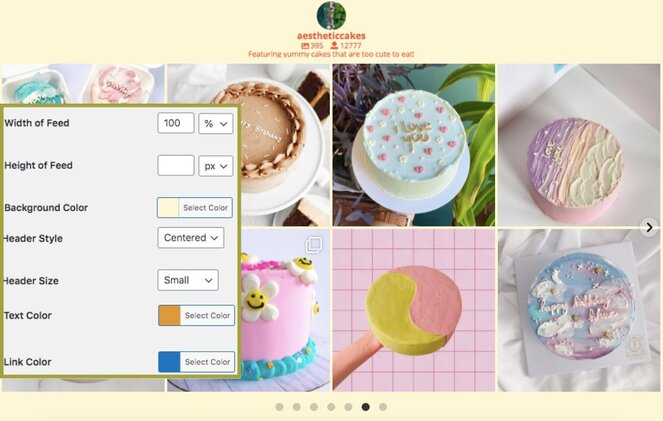 customize the look of your social media feed