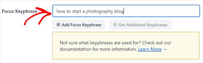 add main keyword