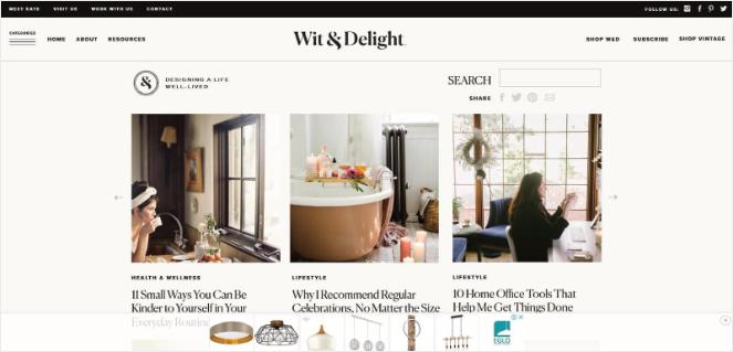 Blog de style de vie Wit and Delight