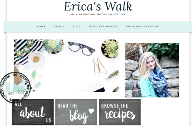 the blog erica's walk figured out her blogging mistakes and fixed it