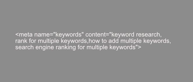 example of meta keywords