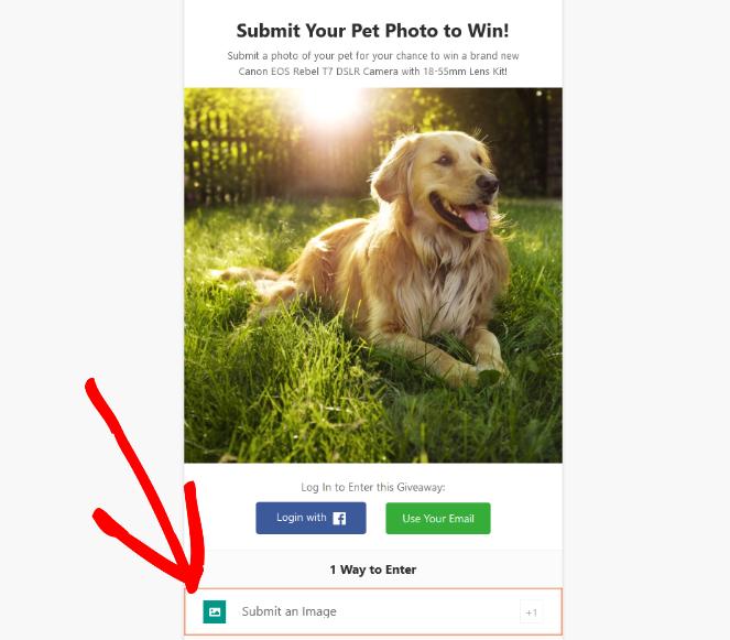 run a photo contest with rafflepress