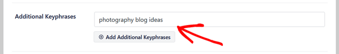 add additional keyphrases in all in one seo