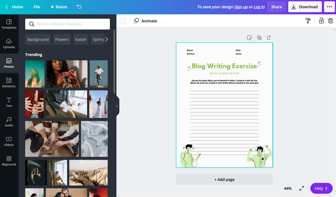 how to create a lead magnet with canva