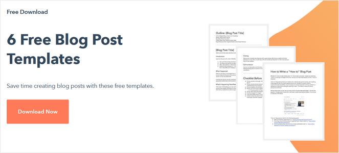 hubspot blog post templates lead magnet example