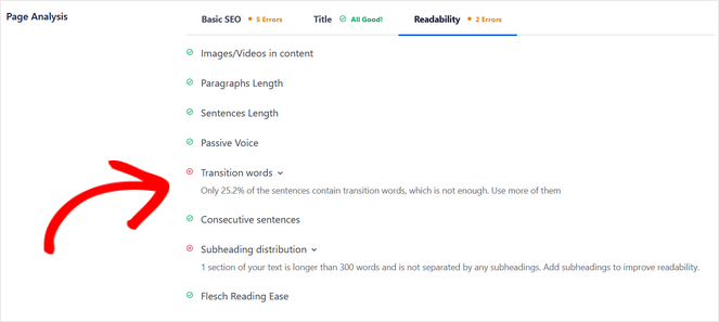 readability suggestions