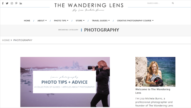 successful photography blog