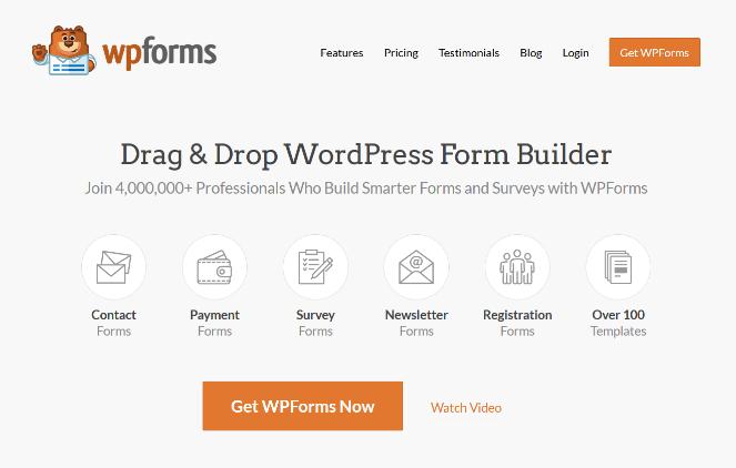complemento del constructor de formularios de wpforms