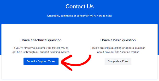 aioseo support ticket system