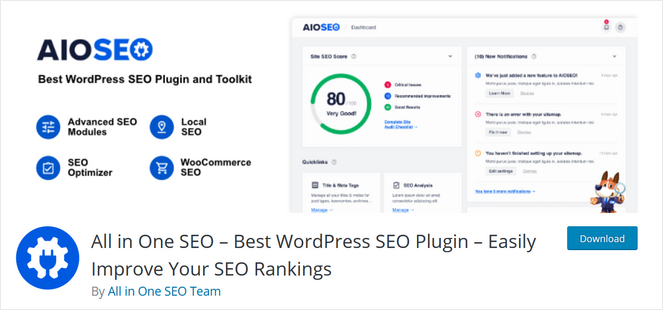 free version of all in one seo