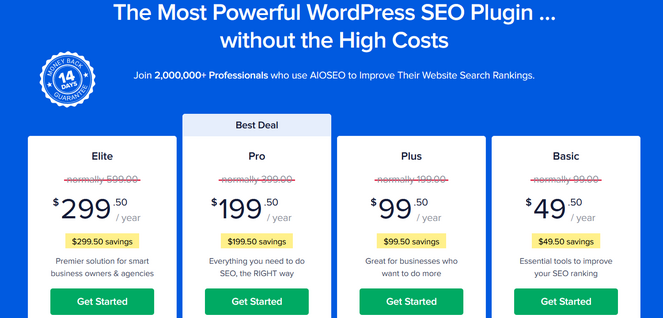 all in one seo pricing plans