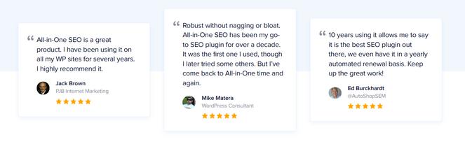 aioseo customer reviews