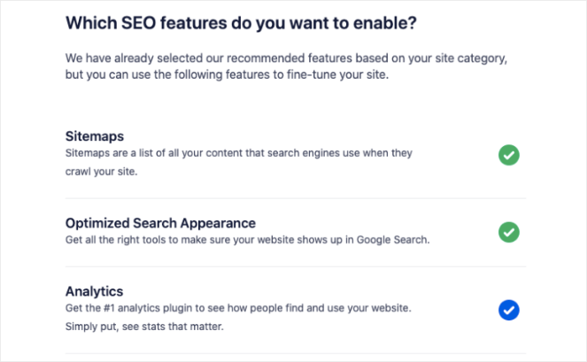 enable seo features in all in one seo