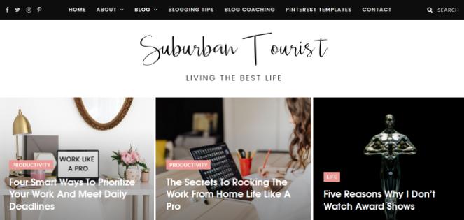 ideas para blogs de estilo de vida turístico suburbano
