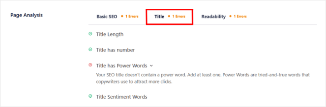 all in one seo title analysis