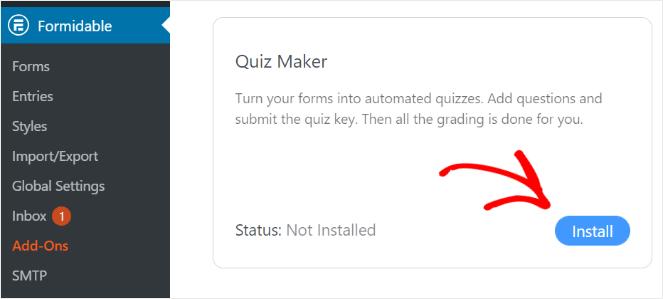 installer le module complémentaire de créateur de quiz
