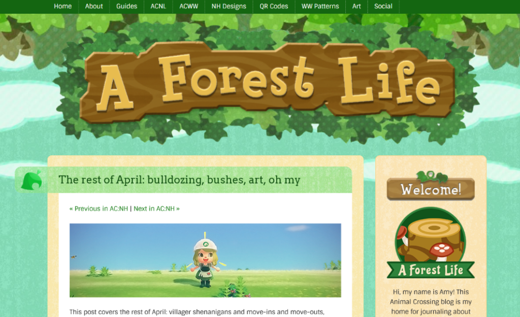 wordpress blog layout and design