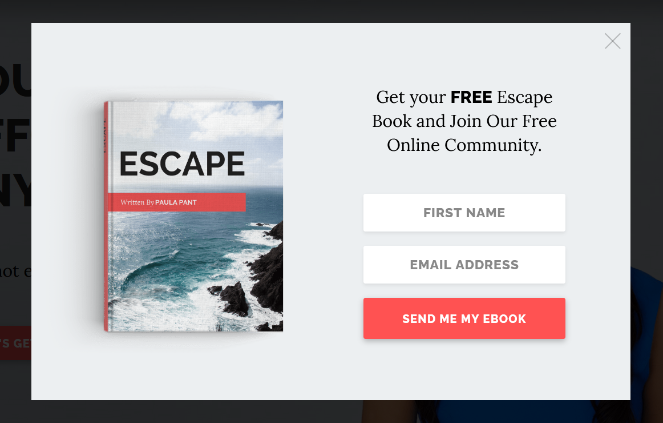 example of adding popups to your blog to grow email subscribers