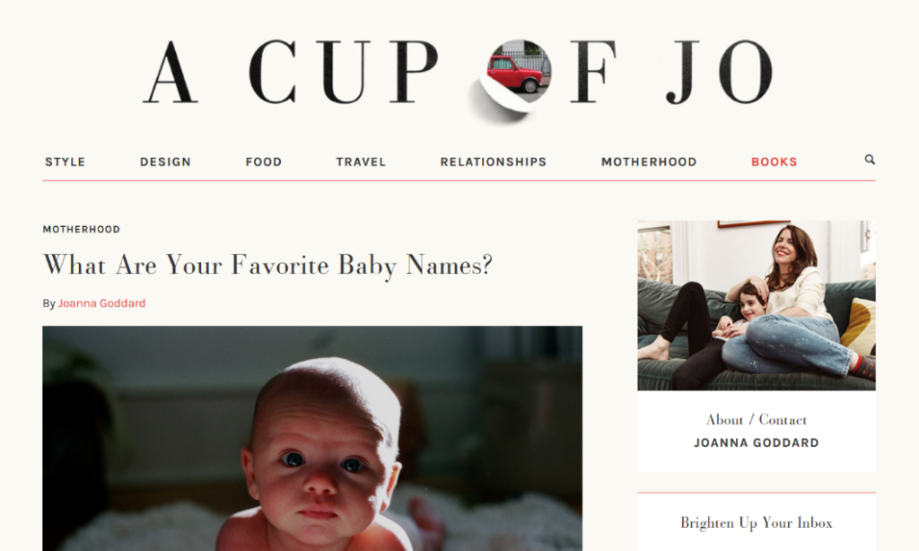 blog design tips cup of jo