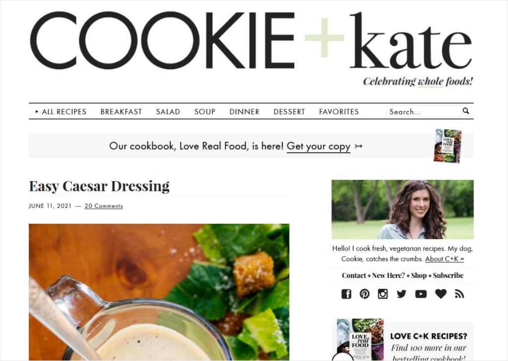 food blog design example