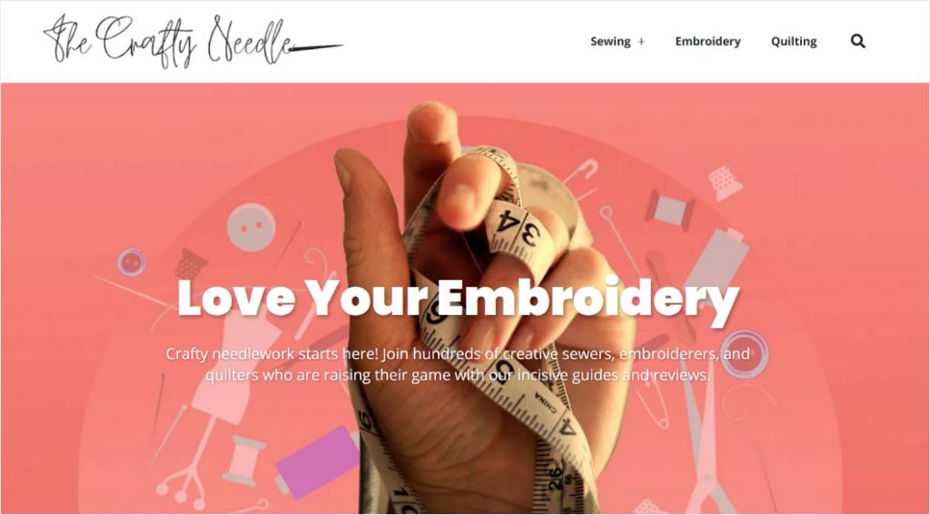 the crafty needle blog header design