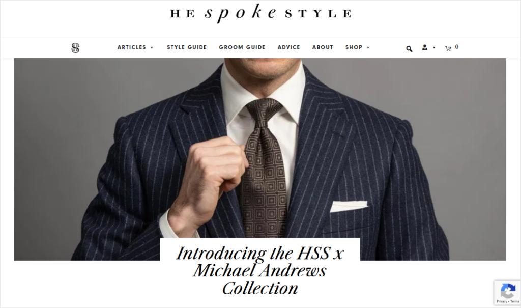 men's fashion blog design he spoke style