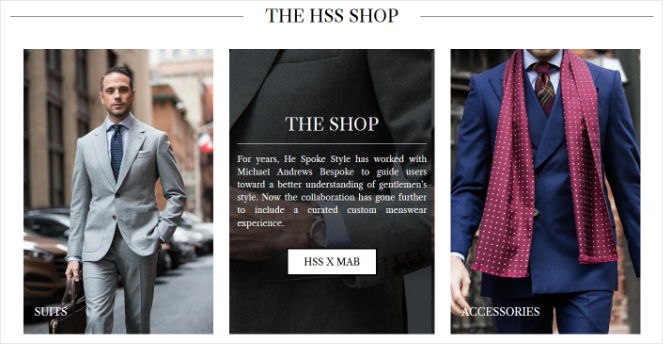 online store on a blog