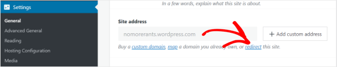redirect wordpress.com to wordpress.org