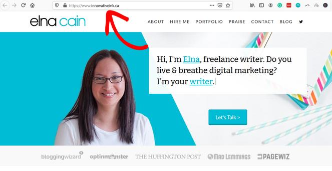freelance blogging domain name example