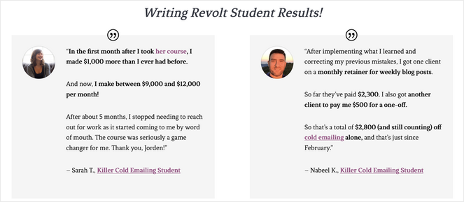 display testimonials on your blog to boost conversions