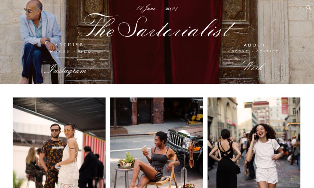 photography blog layout example