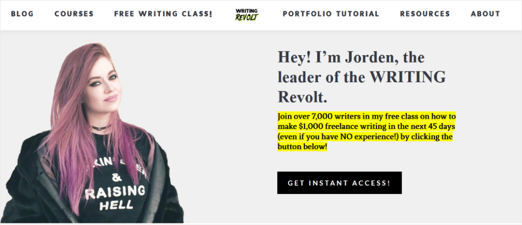blog design by writing revolt