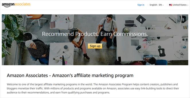 amazon associates best affiliate programs for beginners