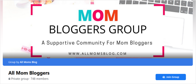 facebook group for mom bloggers